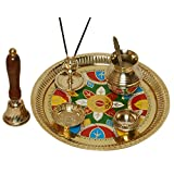 Brass Pooja Thali Diwali Decoration With Special Desigh Diwali Gift Item Brass Pooja Item Home Decor Item Set...