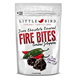 Chocolate Covered Candied Jalapeno Candy Fire Bites Bundle. Dark, Milk, & White Chocolate. By Little Bird Curious Confections.