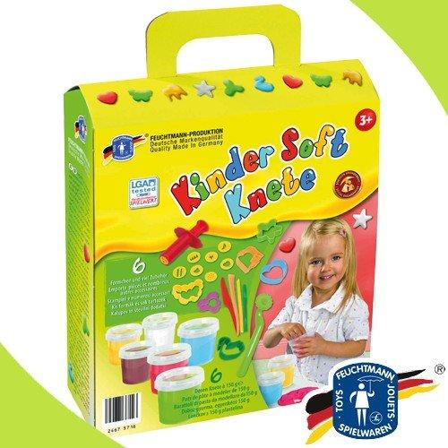 Feuchtmann 628-5341 Kinder Soft Knete CREATIVE Förmchen viel Zubehör im Geschenkkarton