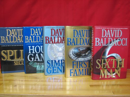 King and Maxwell Series Complete Set, Volumes 1-5, By David Baldacci. Hardcover (Split Second / Hour Game / Simple Genius / First Family / The Sixth Man, Sean King and Michelle Maxwell Series) (King And Maxwell Split Second compare prices)