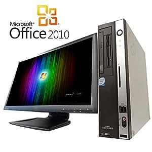 【Microsoft Office2010搭載】【Win7 搭載】【超大画面22インチ液晶セット】富士通D5260/新Core 2 Duo 2.83GHz/メモリ4GB/HDD160GB/DVDドライブ/中古デスクトップパソコン