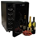 Koolatron WC20 Mirrored Glass Door Wine Cellar (20 Bottle), Black
