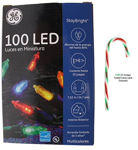 GE 100 LED StayBright Miniature String Lights Outdoor/Indoor Decoration with Free 6