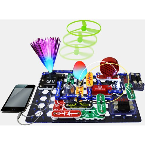 Snap Circuits Led Fun Lights Physics Kit W/ Strobe Light And Color Changing Led