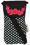 #6: Pick Pocket Women's Mobile Pouch Sling Bag(Black & White,Popolka249)