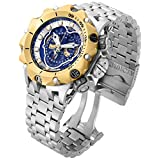 Invicta Venom Chronograph Blue Dial Stainless Steel Mens Watch 16808 (Color: Silver)