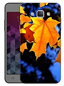 "Humor Gang Orange Maple Leaf Blue Printed Designer Mobile Back Cover For ""Samsing Galaxy A8"" (3D, Matte, Premium Quality Snap On Case)"
