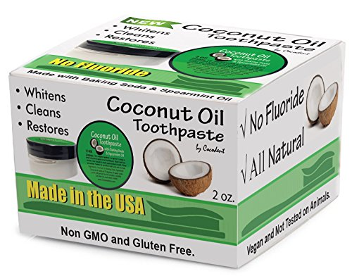 Coconut Oil Teeth Whitening Baking Soda Toothpaste 2 Pack (Organic Baking Soda Powder compare prices)