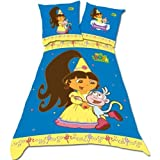 Dora The Explorer Princess Single Duvet Set Panel Print