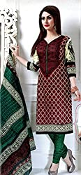 Rose Petals Un stitched Printed Cotton salwar suits for women