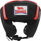 Lonsdale M-Core Sparring Head Guard - Black/Red/White, Large