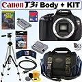 Canon EOS Rebel T3i 18 MP CMOS Digital SLR Camera (Body) + 16GB SDHC Class 10 + Focus Multi Card Reader + Replacement LP-E8 Battery + Accessory Kit