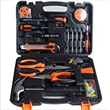 Hi-tech 45-Piece Homeowner's Tool Kit,General Household Hand Tool Set,hardware tool set,Screwdriver,Wrench,Scissors,Claw hammer,Knife,Tape