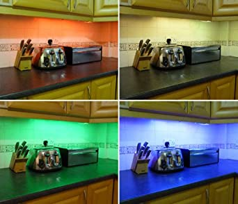 led kitchen under cabinet lighting set includes 2 x 50cm led