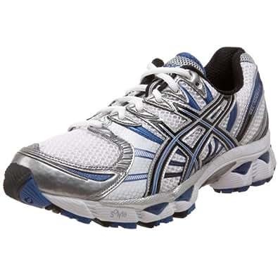 ASICS Men's GEL-Nimbus 12 Running Shoe,White/Black/Royal,7 M US