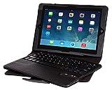 ipad mini 4 Bluetooth キーボード 【KuGi】 ipad mini 4 2015モデル キーボード ケース 一体型  マグネット 脱着式 良質PUレザーケース付き apple ipad mini 4 キーボード カバー (ipad mini 4, ブラック)