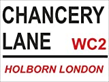 ACRYLIC FRIDGE MAGNET 4081 CHANCERY LANE LONDON STREET SIGN - FRIDGE MAGNET