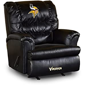 NFL Minnesota Vikings Big Daddy Leather Recliner by Imperial