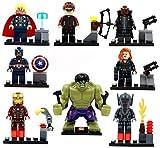 8 Minifiguras de la Era de Ultron - Incluye Hulk, Ironman, Viuda Negra, Thor, Ultron, Ojo de Halcon y Otros Personajes