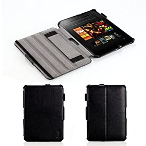 """Poetic HardBack Protective Case for Amazon Kindle Fire HD 7"""" Tablet Black (Automatically Wakes and Puts Kindle Fire HD 7 Tablet to Sleep)(Intergrated HandStrap)(Has Open Slot for Charger Port)(3 Year Manufacturer Warranty From Poetic)"""