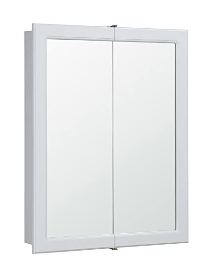 Design House 531426 24-Inch by 30-Inch Concord Ready-To-Assemble Bi-View Medicine Cabinet, White