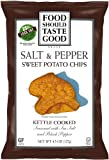 Food Should Taste Good Chips, Kettle Sweet Potato Salt and Pepper, 4.5 Ounce (Pack of 12)