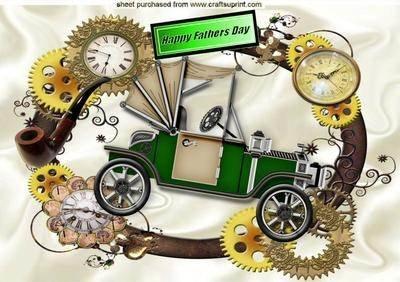 Autoaufkleber im PUNK Dampfaustritt zum Vatertag, Rahmen im Ziffernblatt A4 von Nick Bowleyscher