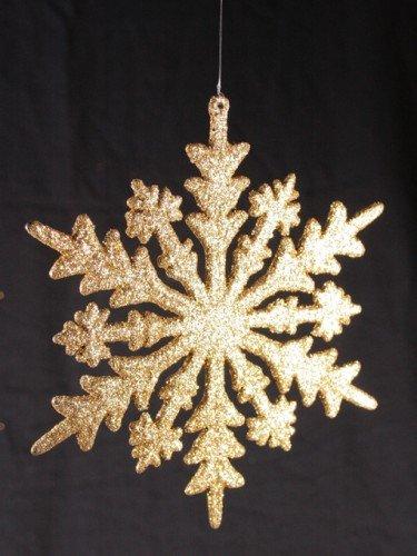 Baumhänger, Schneeflocke gold,