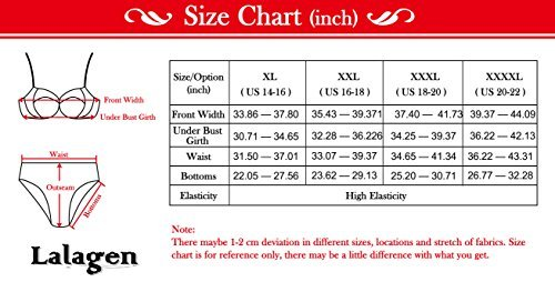 Lalagen Women's Retro Vintage Hollow Out Two Piece Swimwear Set Plus Size Swimsuit 2