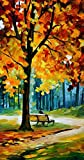 Home Decor and Gifts,20x40in Sunny Winter Art Wall Decor Knife Painting 100% Painted No Frame