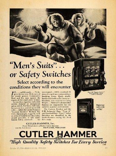 1930 Ad Cutler-Hammer Inc. Electric Control Apparatus - Original Print Ad