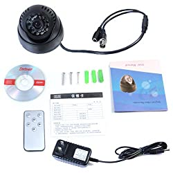 EASY K-803 Cctv Dome camera with Built-in DVR (memory card slot) + Remote and TV video output