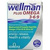 Vitabiotics Wellman Multivitamin Plus Omega 3, 6 & 9 - 56 Tablets (Pack of One)