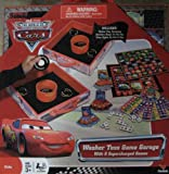 Disney Pixar The World of Cars Washer Toss Game Garage with 8 Superchraged Games!