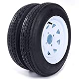 eCustomRim 2-Pack Trailer Tire On Rim 4.80-12 12 in. Load C 4 Lug White Spoke