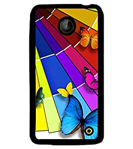 Printvisa Assorted Butterfly Pattern Back Case Cover for Nokia Lumia 630::Nokia Lumia 630 3G