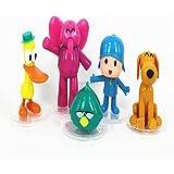 "Catchvogue 5pcs PVC Toy 2"" to 4"" Pocoyo,pato,elly,loula,sleepy Bird, Cartoon Toys"