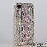 3D Swarovski Luxury AB Crystals Bling Case Cover for iphone 4 / 4s 100% Handcrafted by BlingAngels