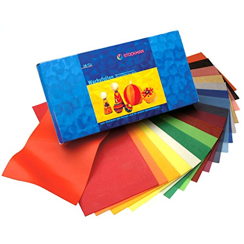 Stockmar Decorating Natural Bees Wax Sheets 18 Assorted Colors (Sheets Of Beeswax compare prices)