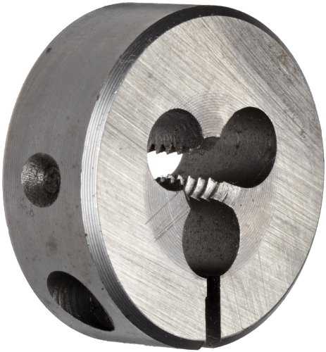 Union Butterfield 2510(UNC) High-Speed Steel Round Threading Die, Uncoated (Bright) Finish, 1