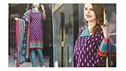 Elegant Attyres Women's Cotton Unstitched Dress Material (Elegant Attyres_6_Maroon_Free Size)