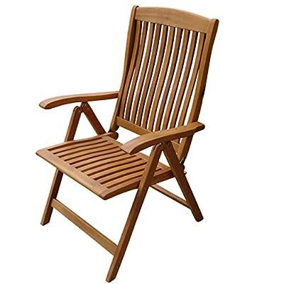 indoba® IND-70002-ST - Serie Sun Flair - Gartenstuhl aus Eukalyptus Holz - fünffach verstellbar, klappbar von indoba auf Gartenmöbel von Du und Dein Garten