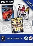 echange, troc Pack PC Grand public : Sims Double Deluxe - Fifa 2004 - NFS U.