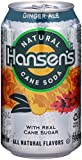 Hansen's Natural Cane Soda (Ginger Ale, 12-Ounce Cans, Pack of 24)
