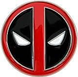 Deadpool Die Cast Pewter Finish Enameled Belt Buckle