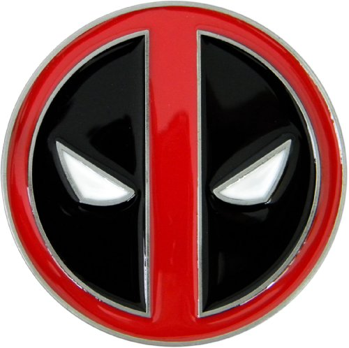 Deadpool Die Cast Pewter Finish Enameled Belt Buckle