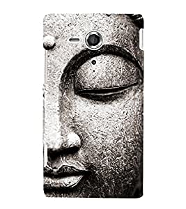 Buddha Statue Cute Fashion 3D Hard Polycarbonate Designer Back Case Cover for Sony Xperia SP :: Sony Xperia SP HSPA C5302 :: Sony Xperia SP LTE C5303 :: Sony Xperia SP LTE C5306