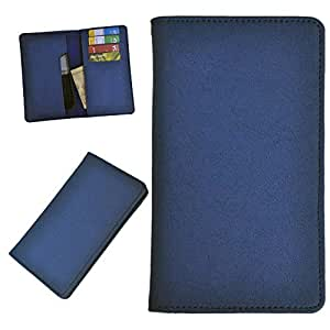DSR Pu Leather case cover for Lava 3G 415 (blue)