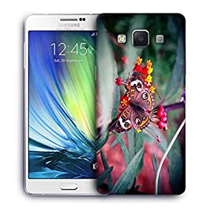 Snoogg Abstract Unique Butterfly Printed Protective Phone Back Case Cover For Samsung Galaxy A7