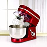 Morphy Richards Accents Stand Mixer Red (M/r plastic stand mixer red 800W 6 speed ss bowl 5LTR)